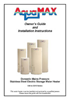 Gas continuous flow water heater brochure